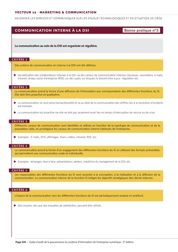 Guide d'audit de la gouvernance du Système d'Information de l'entreprise numérique - 2ème édition page 106