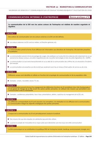 Guide d'audit de la gouvernance du Système d'Information de l'entreprise numérique - 2ème édition page 107