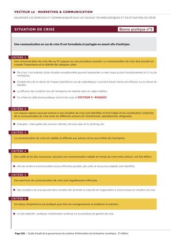 Guide d'audit de la gouvernance du Système d'Information de l'entreprise numérique - 2ème édition page 108