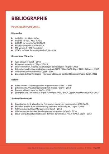 Guide d'audit de la gouvernance du Système d'Information de l'entreprise numérique - 2ème édition page 109