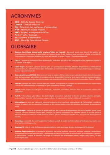 Guide d'audit de la gouvernance du Système d'Information de l'entreprise numérique - 2ème édition page 110