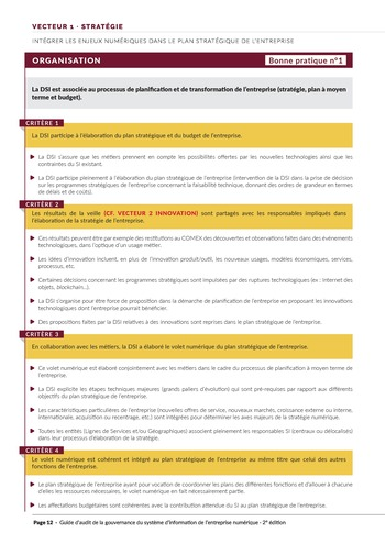 Guide d'audit de la gouvernance du Système d'Information de l'entreprise numérique - 2ème édition page 14