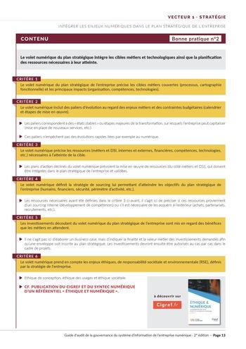 Guide d'audit de la gouvernance du Système d'Information de l'entreprise numérique - 2ème édition page 15