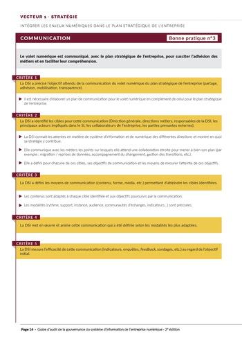 Guide d'audit de la gouvernance du Système d'Information de l'entreprise numérique - 2ème édition page 16