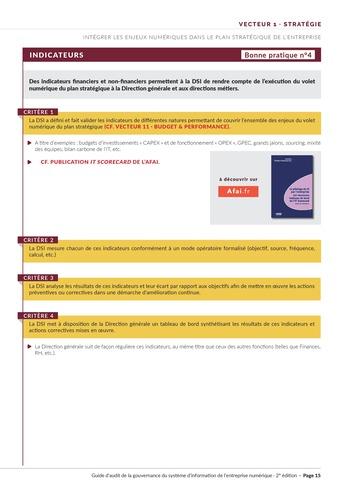Guide d'audit de la gouvernance du Système d'Information de l'entreprise numérique - 2ème édition page 17