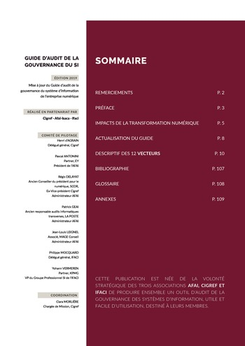 Guide d'audit de la gouvernance du Système d'Information de l'entreprise numérique - 2ème édition page 2