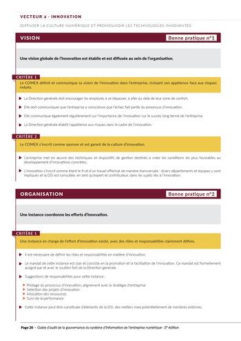 Guide d'audit de la gouvernance du Système d'Information de l'entreprise numérique - 2ème édition page 22