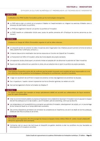 Guide d'audit de la gouvernance du Système d'Information de l'entreprise numérique - 2ème édition page 23