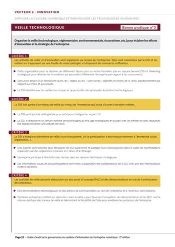 Guide d'audit de la gouvernance du Système d'Information de l'entreprise numérique - 2ème édition page 24