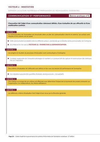 Guide d'audit de la gouvernance du Système d'Information de l'entreprise numérique - 2ème édition page 26