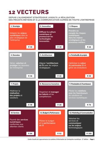 Guide d'audit de la gouvernance du Système d'Information de l'entreprise numérique - 2ème édition page 3