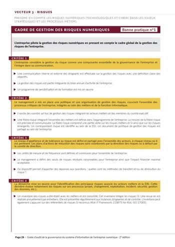 Guide d'audit de la gouvernance du Système d'Information de l'entreprise numérique - 2ème édition page 30