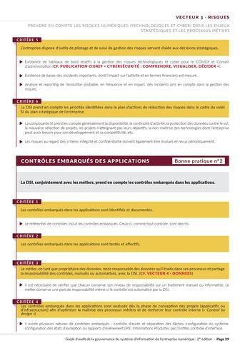 Guide d'audit de la gouvernance du Système d'Information de l'entreprise numérique - 2ème édition page 31