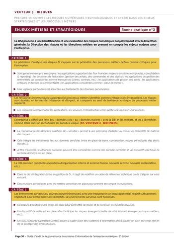 Guide d'audit de la gouvernance du Système d'Information de l'entreprise numérique - 2ème édition page 32