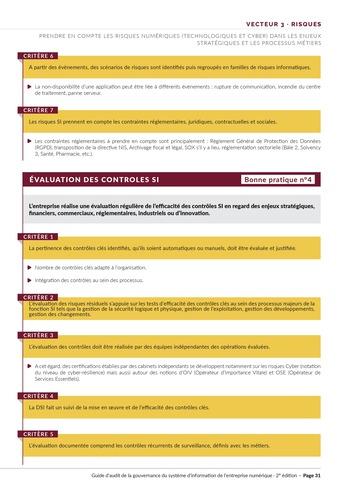 Guide d'audit de la gouvernance du Système d'Information de l'entreprise numérique - 2ème édition page 33