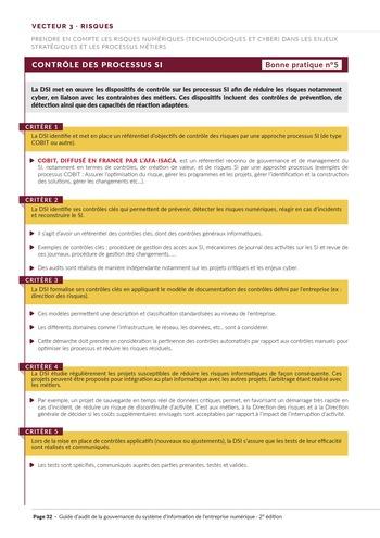 Guide d'audit de la gouvernance du Système d'Information de l'entreprise numérique - 2ème édition page 34