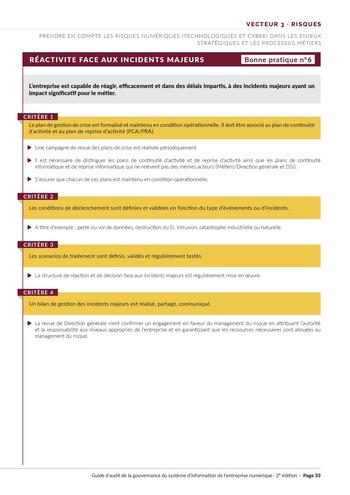Guide d'audit de la gouvernance du Système d'Information de l'entreprise numérique - 2ème édition page 35