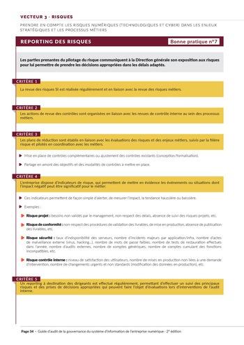 Guide d'audit de la gouvernance du Système d'Information de l'entreprise numérique - 2ème édition page 36
