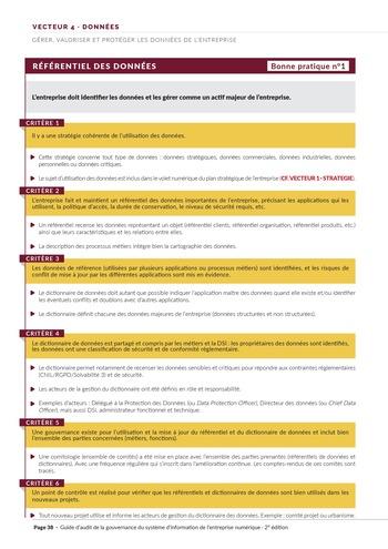 Guide d'audit de la gouvernance du Système d'Information de l'entreprise numérique - 2ème édition page 40