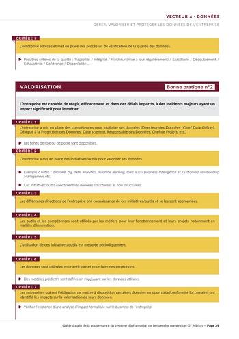 Guide d'audit de la gouvernance du Système d'Information de l'entreprise numérique - 2ème édition page 41