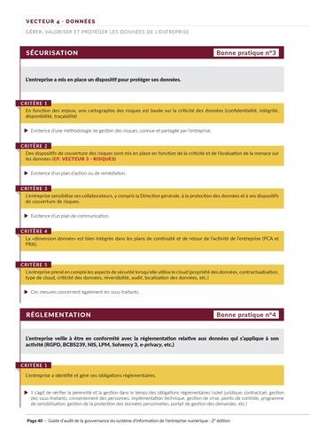 Guide d'audit de la gouvernance du Système d'Information de l'entreprise numérique - 2ème édition page 42