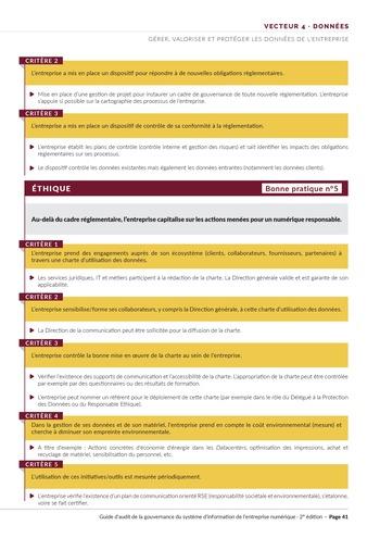 Guide d'audit de la gouvernance du Système d'Information de l'entreprise numérique - 2ème édition page 43