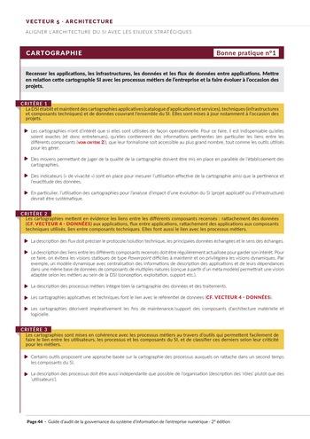 Guide d'audit de la gouvernance du Système d'Information de l'entreprise numérique - 2ème édition page 46