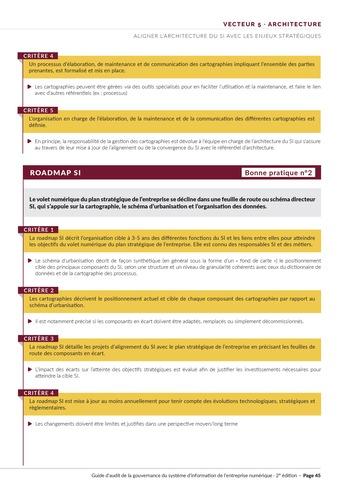 Guide d'audit de la gouvernance du Système d'Information de l'entreprise numérique - 2ème édition page 47