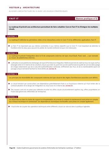 Guide d'audit de la gouvernance du Système d'Information de l'entreprise numérique - 2ème édition page 48