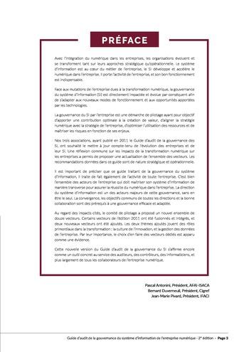 Guide d'audit de la gouvernance du Système d'Information de l'entreprise numérique - 2ème édition page 5