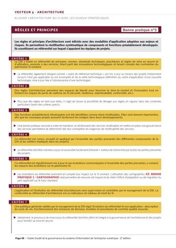 Guide d'audit de la gouvernance du Système d'Information de l'entreprise numérique - 2ème édition page 50