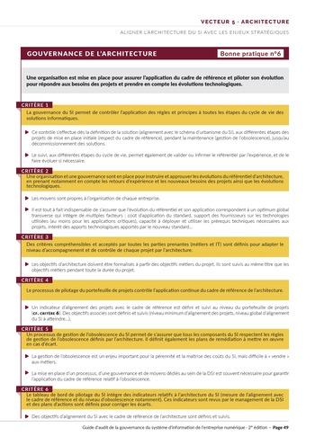 Guide d'audit de la gouvernance du Système d'Information de l'entreprise numérique - 2ème édition page 51