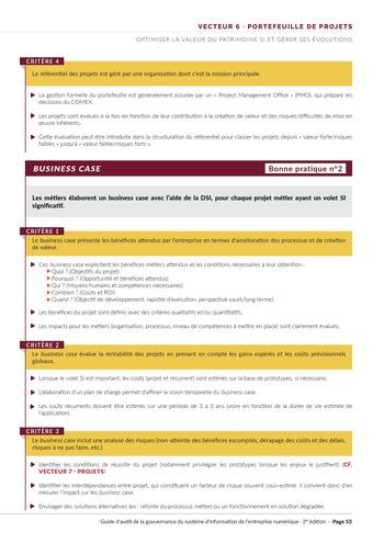 Guide d'audit de la gouvernance du Système d'Information de l'entreprise numérique - 2ème édition page 55