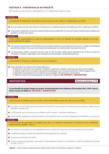 Guide d'audit de la gouvernance du Système d'Information de l'entreprise numérique - 2ème édition page 56