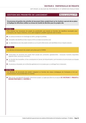 Guide d'audit de la gouvernance du Système d'Information de l'entreprise numérique - 2ème édition page 57