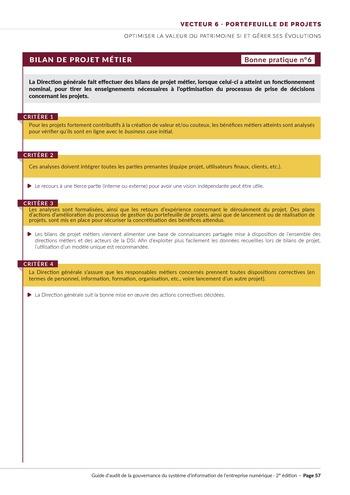 Guide d'audit de la gouvernance du Système d'Information de l'entreprise numérique - 2ème édition page 59