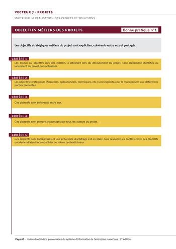 Guide d'audit de la gouvernance du Système d'Information de l'entreprise numérique - 2ème édition page 62