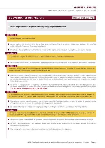 Guide d'audit de la gouvernance du Système d'Information de l'entreprise numérique - 2ème édition page 63