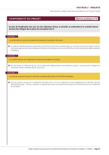 Guide d'audit de la gouvernance du Système d'Information de l'entreprise numérique - 2ème édition page 65