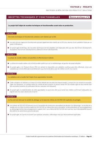 Guide d'audit de la gouvernance du Système d'Information de l'entreprise numérique - 2ème édition page 67