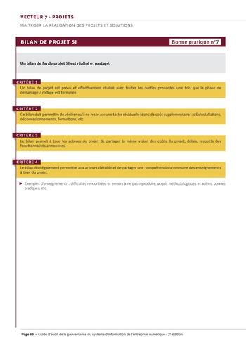 Guide d'audit de la gouvernance du Système d'Information de l'entreprise numérique - 2ème édition page 68