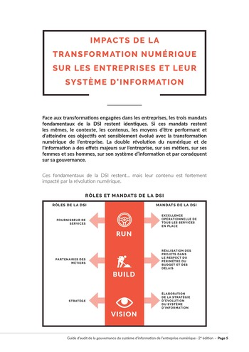 Guide d'audit de la gouvernance du Système d'Information de l'entreprise numérique - 2ème édition page 7