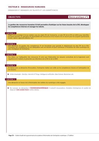 Guide d'audit de la gouvernance du Système d'Information de l'entreprise numérique - 2ème édition page 72