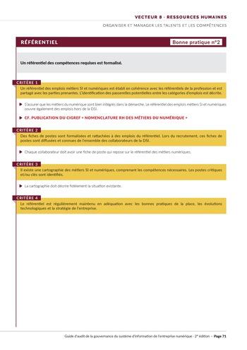 Guide d'audit de la gouvernance du Système d'Information de l'entreprise numérique - 2ème édition page 73