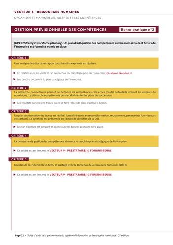 Guide d'audit de la gouvernance du Système d'Information de l'entreprise numérique - 2ème édition page 74