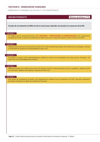 Guide d'audit de la gouvernance du Système d'Information de l'entreprise numérique - 2ème édition page 76