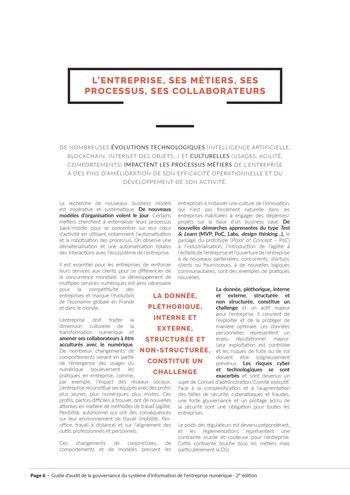 Guide d'audit de la gouvernance du Système d'Information de l'entreprise numérique - 2ème édition page 8