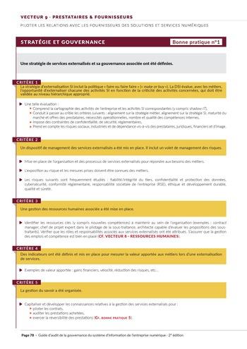 Guide d'audit de la gouvernance du Système d'Information de l'entreprise numérique - 2ème édition page 80