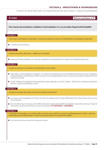 Guide d'audit de la gouvernance du Système d'Information de l'entreprise numérique - 2ème édition page 81