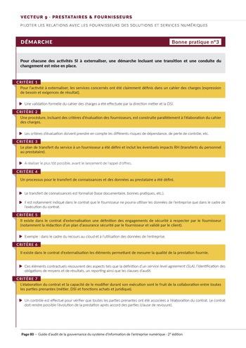 Guide d'audit de la gouvernance du Système d'Information de l'entreprise numérique - 2ème édition page 82
